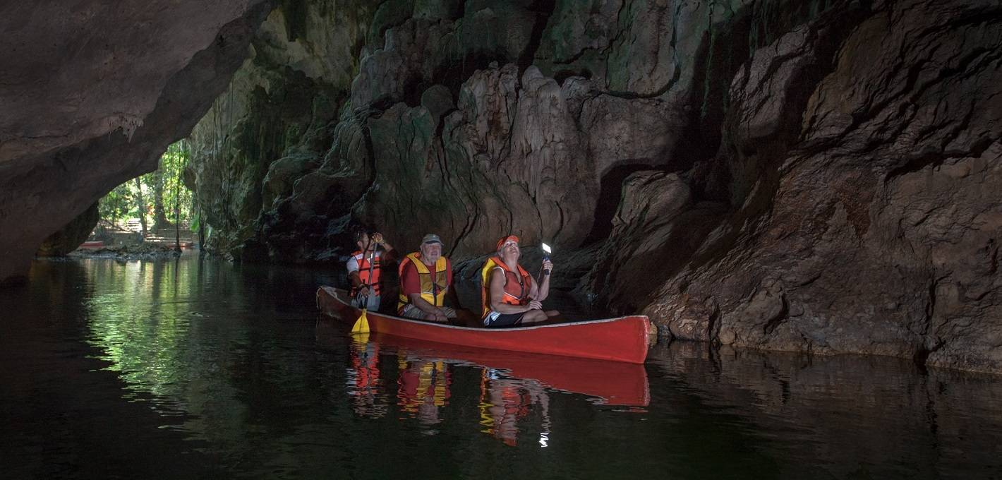 Barton Creek Cave Canoeing